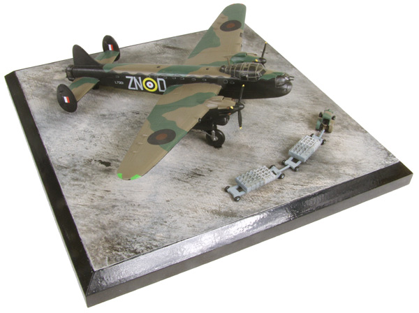 Avro Manchester B Mk I 1/144 scale pewter limited edition aircraft model as flown by Leslie Manser who was awarded the Victoria Cross. Handmade by Staples and Vine Ltd.
