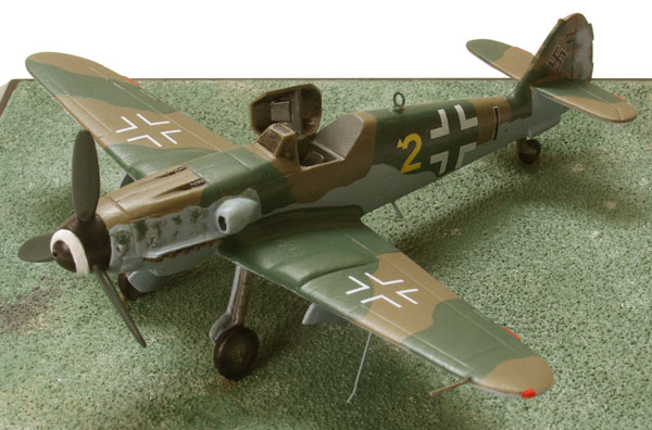 Messerschmitt Me 109K-4 1/72 scale pewter limited edition aircraft model. A late model Messerschmitt 109 handmade by Staples and Vine Ltd.
