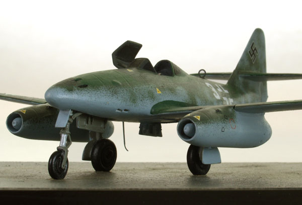 Messerschmitt Me 262A-1a 1/72 scale pewter limited edition aircraft model as flown by Adolf Galland. Handmade by Staples and Vine Ltd.