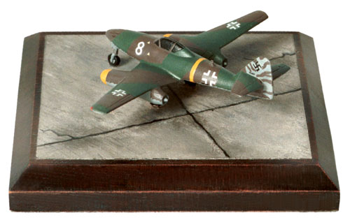 Messerschmitt Me 262A-1a 1/144 scale pewter limited edition aircraft model as flown by Walter Nowotny. Handmade by Staples and Vine Ltd.