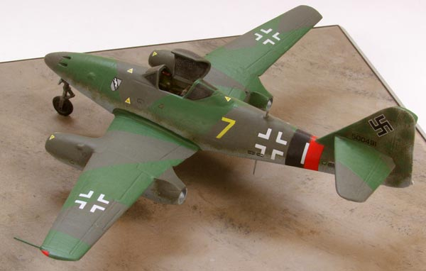 Messerschmitt Me 262A-1a 1/72 scale pewter limited edition aircraft model as flown by Heinz Arnold. Handmade by Staples and Vine Ltd.