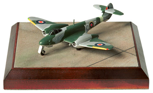 Gloster Meteor F3 1/144 scale pewter limited edition aircraft model of one of the early RAF jets. Handmade by Staples and Vine Ltd.