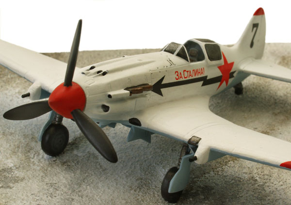 MiG 3 1/72 scale pewter limited edition aircraft model. As flown in the defence of Moscow. Handmade by Staples and Vine Ltd.