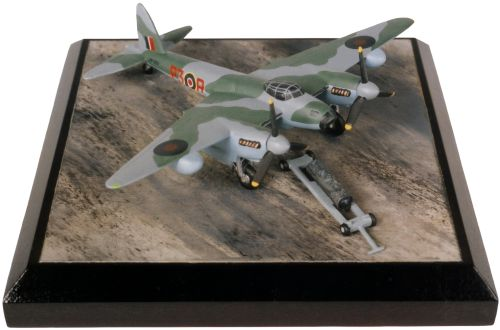 de Havilland Mosquito Mk XVI 1/144 scale pewter limited edition aircraft model with cookie bomb. Handmade by Staples and Vine Ltd.