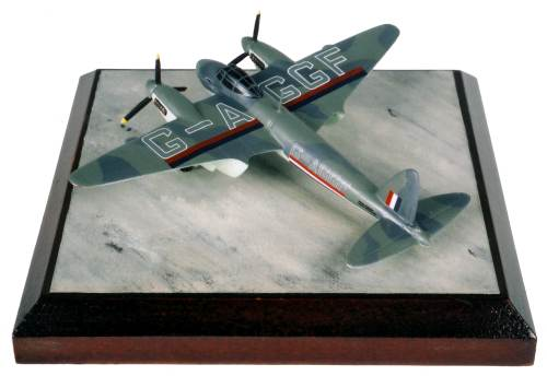de Havilland Mosquito Mk IV BOAC 1/144 scale pewter limited edition aircraft model as used on the famous 'Balb Bearing Runs'. Handmade by Staples and Vine Ltd.