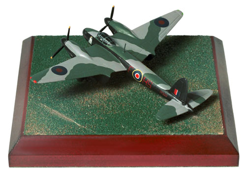de Havilland Mosquito Mk IV 1/144 scale pewter limited edition aircraft model as flown on pathfinder operations. Handmade by Staples and Vine Ltd.