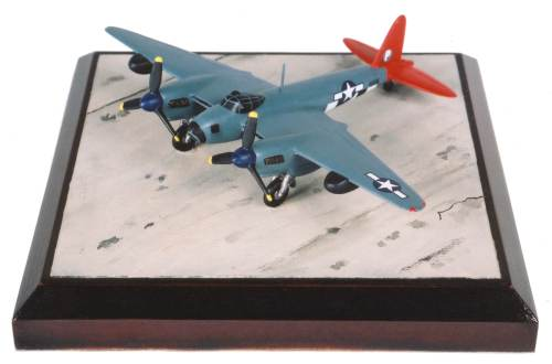 de Havilland Mosquito PR Mk XVI 1/144 scale pewter limited edition aircraft model. As flown by the USAAF. Handmade by Staples and Vine Ltd.