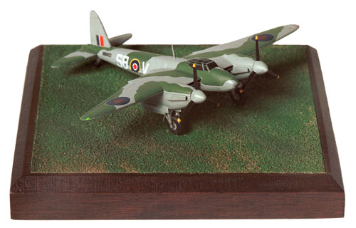 de Havilland Mosquito MK VI 1/144 scale pewter limited edition aircraft model as flown to liberate prisoners from Amiens jail. Handmade by Staples and Vine Ltd.