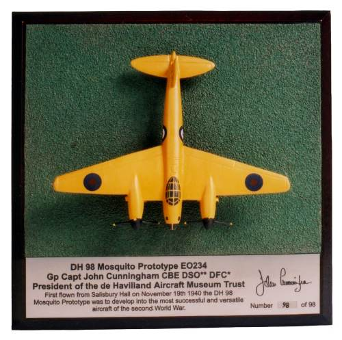 de Havilland Mosquito Prototype 1/144 scale pewter limited edition aircraft model as flown on its maiden flight. Handmade by Staples and Vine Ltd.