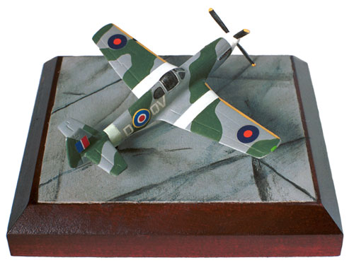 North American Mustang Mk III 1/144 scale pewter limited edition aircraft model as flown with the RAF. Handmade by Staples and Vine Ltd.