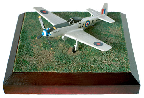 North American Mustang Mk IV 1/144 scale pewter limited edition aircraft model as flown with the RAF. Handmade by Staples and Vine Ltd.