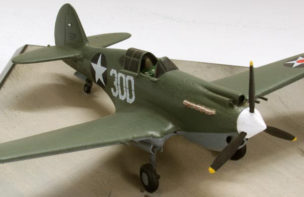 Curtiss P-40B 1/72 scale pewter limited edition aircraft model. An aircraft based at Bellows Field during the attack on Pearl Harbor. Handmade by Staples and Vine Ltd.