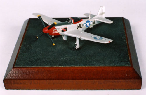 North American P-51D Mustang 1/144 scale pewter limited edition aircraft model as flown by Pierce McKennon. Handmade by Staples and Vine Ltd.