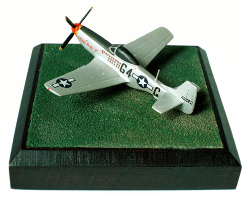 North American P-51K Mustang 1/144 scale pewter limited edition aircraft model. The K variant. Handmade by Staples and Vine Ltd.