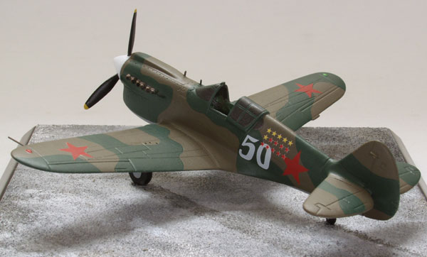 Curtiss P-40E Tomahawk 1/72 scale pewter limited edition aircraft model as flown by the Russian Air Force. Handmade by Staples and Vine Ltd.