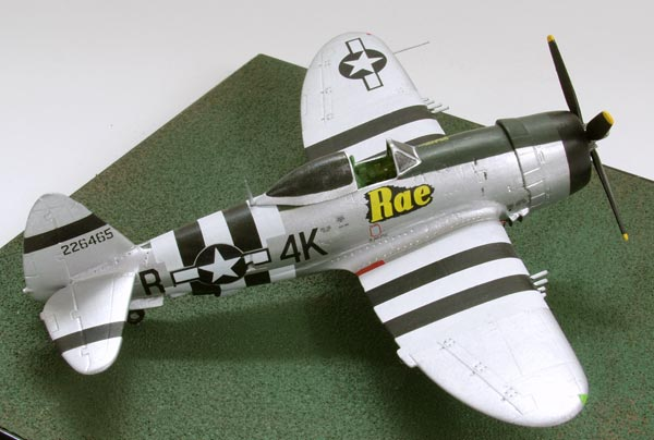 Republic P-47D Thunderbolt of Hal Shook 1/72 scale pewter limited edition aircraft model. Handmade by Staples and Vine Ltd.