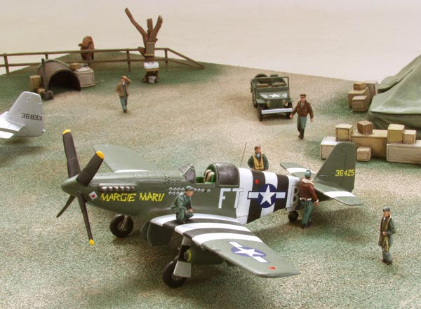 Ground Attack 1/72 scale limited edition diorama of P-51 Mustangs from the D-Day June 6th 1944. Handmade by Staples and Vine Ltd.