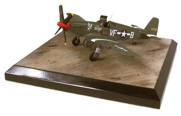 North American P-51B Mustang of James Goodson 1/72 scale pewter limited edition aircraft model. Handmade by Staples and Vine Ltd.