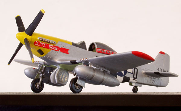 North American P-51D Mustang 1/72 scale pewter limited edition aircraft model as flown by Urban Drew. Handmade by Staples and Vine Ltd.