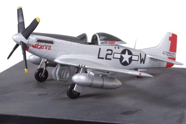 North American P-51D Mustang of Robin Olds 1/72 scale pewter limited edition aircraft model. Handmade by Staples and Vine Ltd.