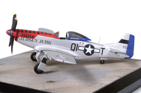 North American P-51D Mustang of Don Strait 1/72 scale pewter limited edition aircraft model. Handmade by Staples and Vine Ltd.