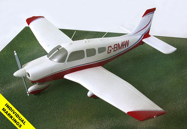 Piper Archer II 1/48 scale pewter aircraft model available in your individual colours and markings. Handmade by Staples and Vine Ltd.