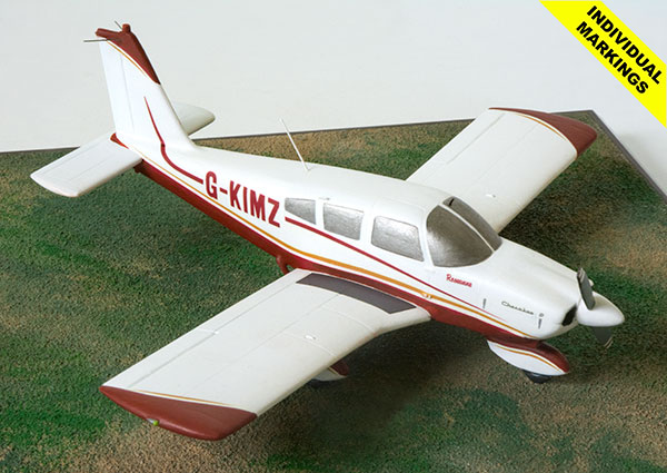 Piper Cherokee 180 1/48 scale pewter aircraft model available in your colours and markings. Handmade by Staples and Vine Ltd.
