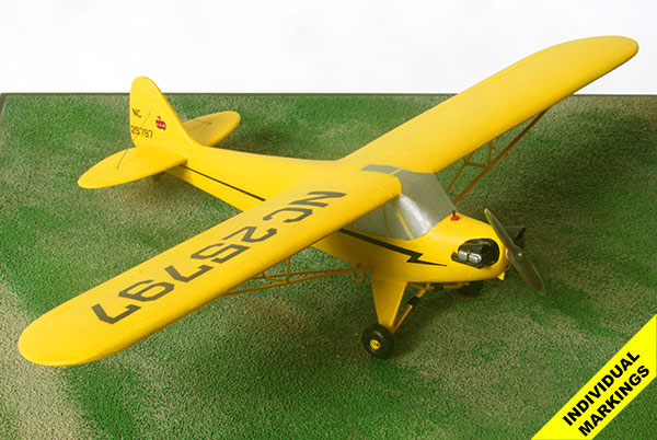 Piper J-3 Cub 1/48 scale pewter aircraft model available in your individual colours and markings. Handmade by Staples and Vine Ltd.