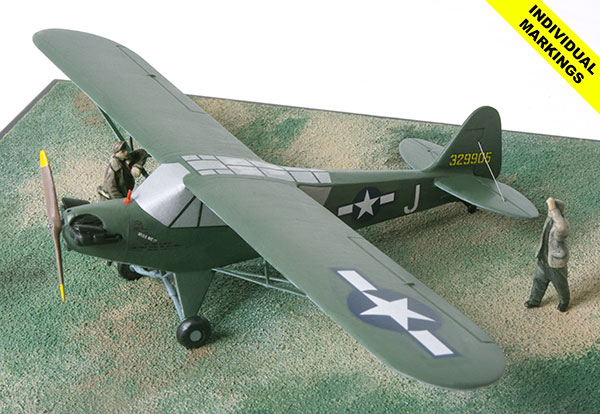 Piper L-4H Grasshopper 1/48 scale pewter aircraft model available in your colours and markings. Handmade by Staples and Vine Ltd.