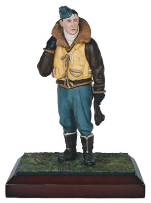 Midwinter Ops limited edition pewter 120mm figure of a Royal Air Force pilot in wintertime. Handmade by Staples and Vine Ltd.