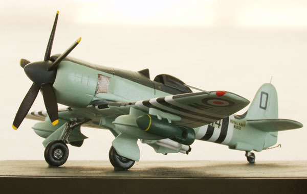 Hawker Sea Fury FB 11 1/72 scale pewter limited edition aircraft model as flown in the Korean War. Handmade by Staples and Vine Ltd.