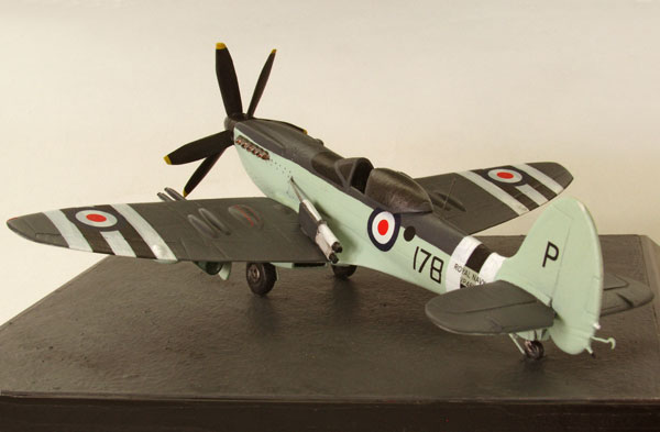 Supermarine Seafire FR 47 1/72 scale pewter limited edition aircraft model as flown in the Korean War. Handmade by Staples and Vine Ltd.