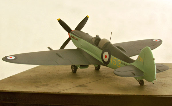 Supermarine Seafire Mk XV 1/72 scale pewter limited edition aircraft model based at RNAS Culdrose. Handmade by Staples and Vine Ltd.