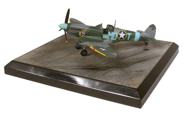 Supermarine Spitfire Mk VB 1/72 scale pewter limited edition aircraft model of Eagle Squadron pilot Don Gentile. Handmade by Staples and Vine Ltd.