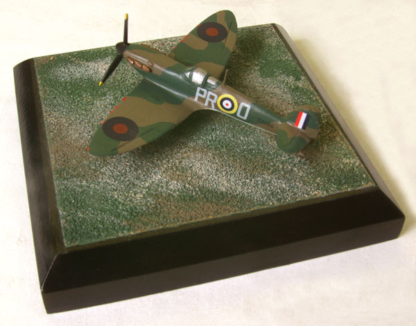 Supermarine Spitfire Mk IA 1/144 scale pewter limited edition aircraft model as flown in the Battle of Britain by J Dundas. Handmade by Staples and Vine Ltd.