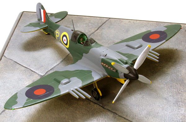 Supermarine Spitfire Mk IV 1/72 scale pewter limited edition aircraft model. The Griffon engined Spitfire prototype. Handmade by Staples and Vine Ltd.