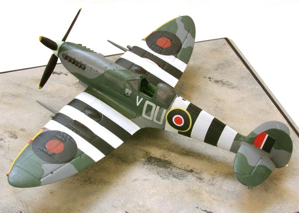 Supermarine Spitfire Mk IXC 1/72 scale pewter limited edition aircraft model of the aircraft to claim the first kill on D-Day. Handmade by Staples and Vine Ltd.