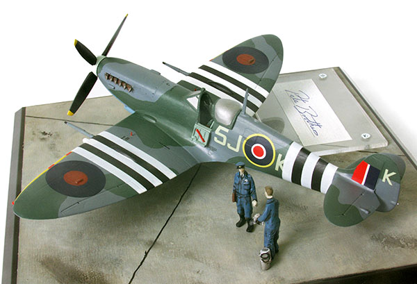 Supermarine Spitfire Mk IXC in 1/48 scale as flown on D-Day June 6th 1944. Handmade limited edition of 50 only in pewter by Staples and Vine Ltd.