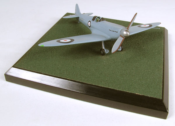 Supermarine Spitfire Prototype 1/72 scale pewter limited edition aircraft model. The prototype in its pale blue scheme. Handmade by Staples and Vine Ltd.