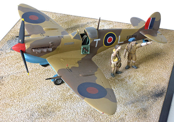 Supermarine Spitfire Mk VB in 1/48 scale as first flown by in the defence of Malta by ace George Beurling. Handmade limited edition of 25 only in pewter by Staples and Vine Ltd.