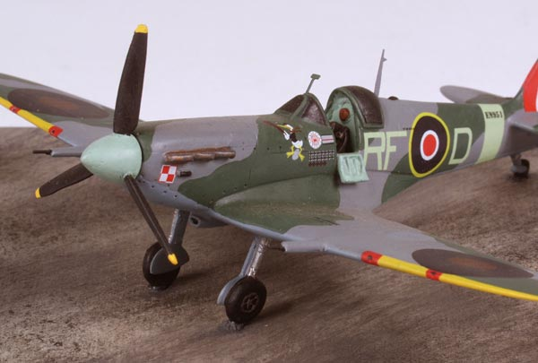 Supermarine Spitfire Mk VB 1/72 scale pewter limited edition aircraft model as flown by Polish ace Jan Zumbach. Handmade by Staples and Vine Ltd.