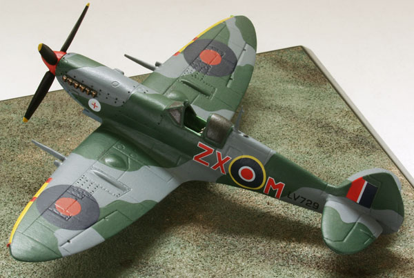 Supermarine Spitfire Mk VIII 1/72 pewter limited edition aircraft model as flown in Italy. Handmade by Staples and Vine Ltd.