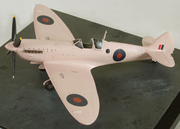 Supermarine Spitfire PR Mk X 1/72 scale pewter limited edition aircraft model. A photo reconaisance spitfire in PR pink. Handmade by Staples and Vine Ltd.