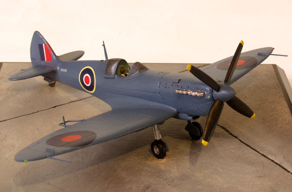 Supermarine Spitfire PR Mk XI 1/72 scale pewter limited edition aircraft model. In PR blue this aircraft was used for high speed trials. Handmade by Staples and Vine Ltd.
