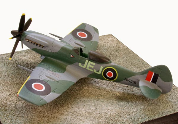 Supermarine Spitfire Mk XIVE 1/72 scale pewter limited edition aircraft model as flown by ace Johnnie Johnson. Handmade by Staples and Vine Ltd.