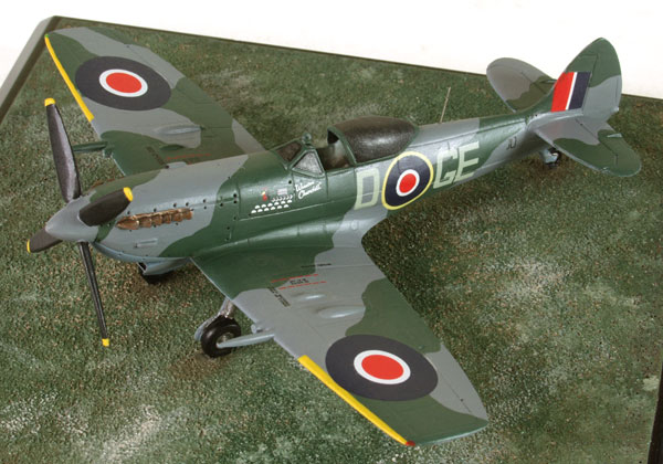 Supermarine Spitfire Mk XVIE 1/72 scale pewter limited edition aircraft model from the dawn of the Belgian Air Force. Handmade by Staples and Vine Ltd.