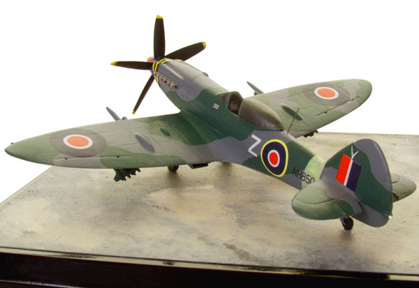 Supermarine Spitfire F MK 18 1/72 scale pewter limited edition aircraft model with underwing rockets handmade by Staples and Vine Ltd.
