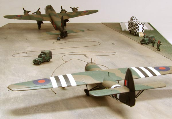 Airborne Assault 1/144 scale limited edition diorama of a Short Stirling Mk IV and Airspeed Horsa Mk I glider from Arnhem. Handmade by Staples and Vine Ltd.
