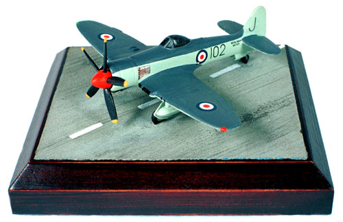 Hawker Sea Fury FB II 1/144 scale pewter limited edition aircraft model. The carrier based fighter from Hawker. Handmade by Staples and Vine Ltd.