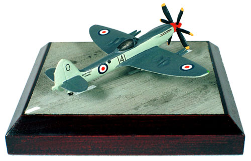 Supermarine Seafire FR Mk 47 1/144 scale pewter limited edition aircraft model from the Korean war. Handmade by Staples and Vine Ltd.